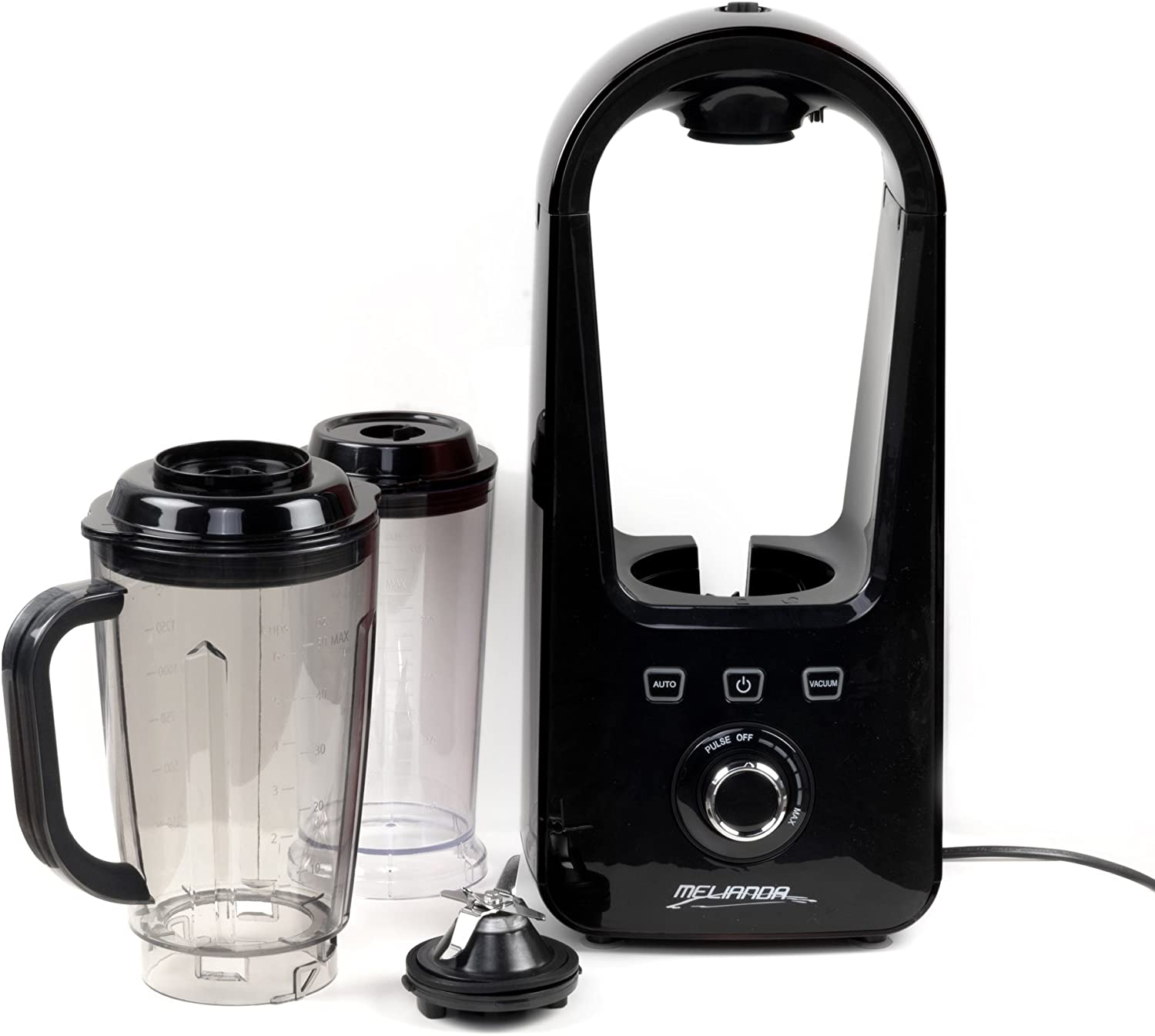 MELIANDA MA-18200 Vacuum Stand Mixer Smoothiemaker 800 W 1.5 Litres 6 Stainless Steel Blades Black