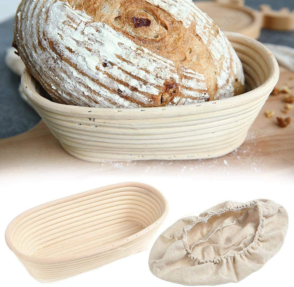 Oval Bread Proofing Basket for Making Beautiful Bread Banneton Perfect Brotform Proofing Basket for Making Beautiful Bread