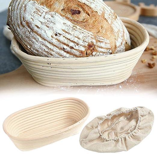 Jannyshop Banneton Brotform Cuenco Oval Bread Proofing ...