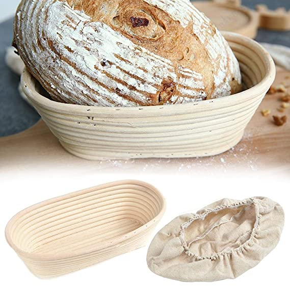 Jannyshop Banneton Brotform Cuenco Oval Bread Proofing ...