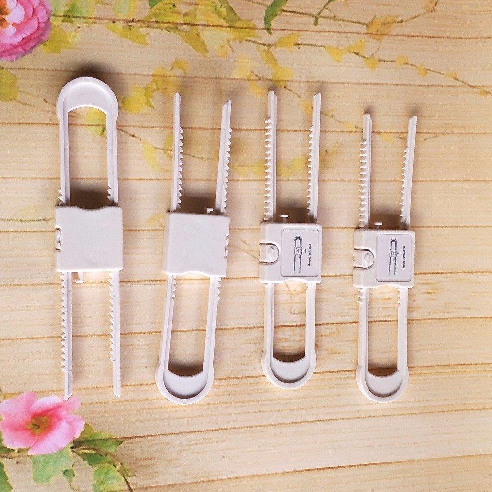 Zenicham Cabinet Baby Lock,Cabinet Child Safety Locks, 2rd Generation Upgrade Dual Smart Locks for Knobs and Handles(No Drill No Screw No Adhesive - 10 Pack,White) by zenicham (Image #9)