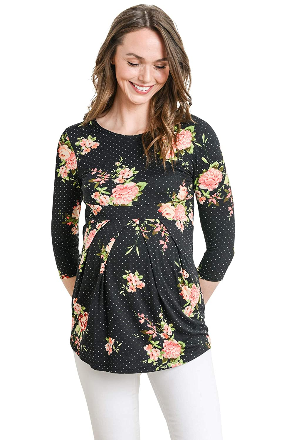 101a2bcd17367 Soft and Strechable and stylish comfortable maternity Elbow sleeve Blouse  perfect for ...