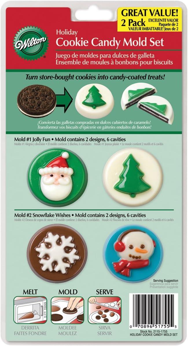 Wilton 8-Cavity Candy Mold, Christmas