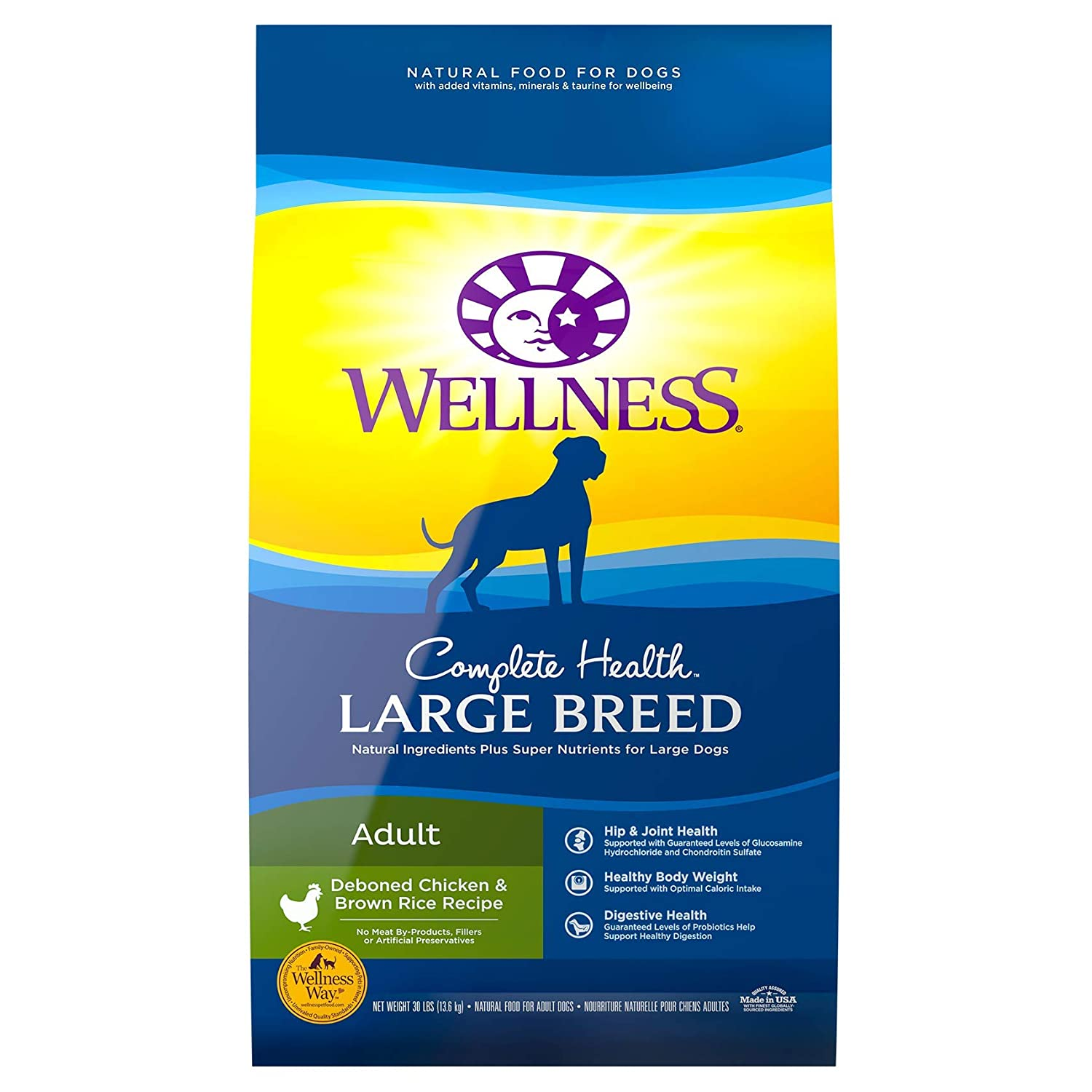 5.Wellness Complete Health Natural Dry Large Breed Dog Food
