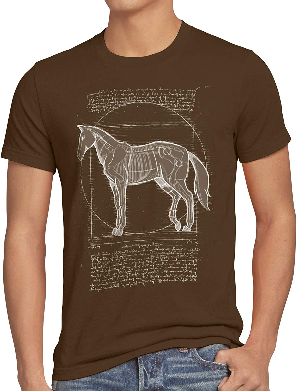 style3 Caballo de Vitruvio Camiseta para Hombre T-Shirt yegua Semental Pony Montar