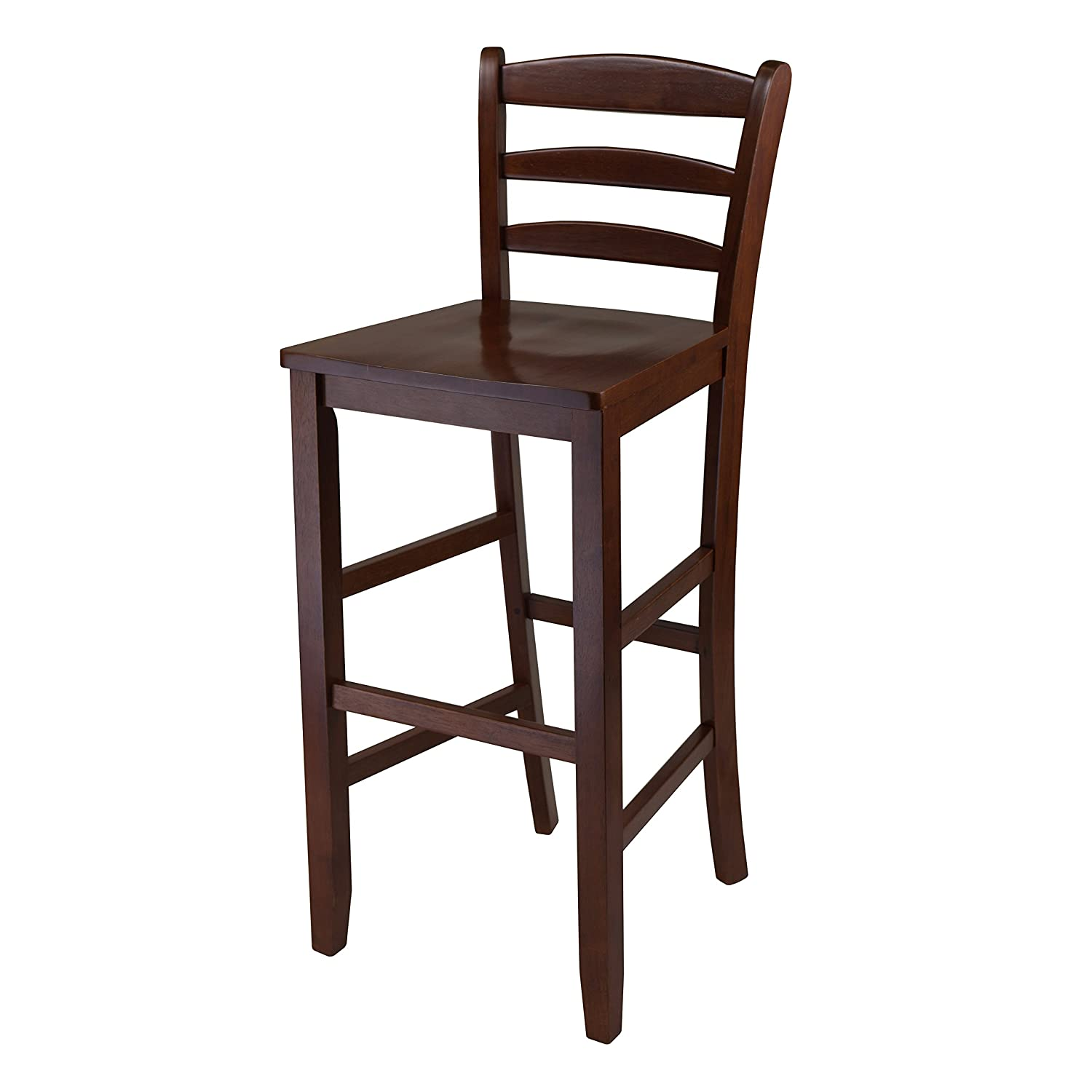 Amazon.com: Winsome 29-Inch Bar Ladder Back Stool, Set of 2 ...