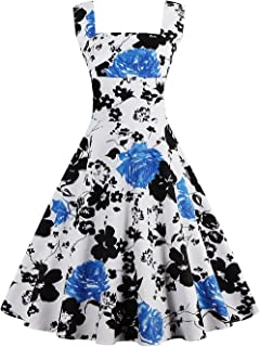 Babyonlinedress Babyonline Vintage 1950s Floral Spring Garden Party Picnic Party Cocktail Dress