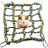Rat Ferret Color Woven Climbing Rope Net Pet Bed Small Animal Activity Hanging Rope Toy for Hamster Parrot
