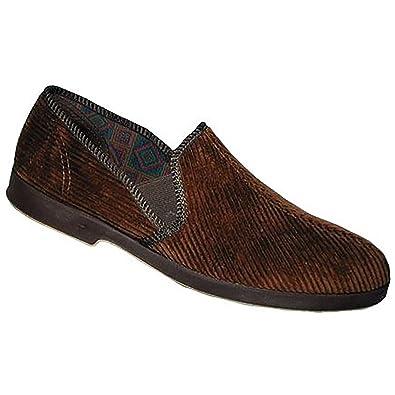 GBS Damen Frenchay Classic Velour Slippers Hausschuhe Schuhe Pantoffeln Slipper Schwarz EUR 40 s3btr