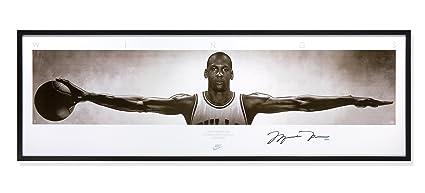 795f23d67a06 Michael Jordan Autographed Chicago Bulls Nike  quot Wings quot  76x28  Panoramic ...