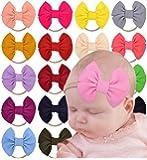Baby Girl Bows Totim Headbands Soft Nylon Headwraps for Newborn Infant Toddlers