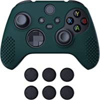 eXtremeRate PlayVital Racing Green 3D Studded Edition Anti-Slip Silicone Cover Skin for Xbox Series X Controller, Soft…
