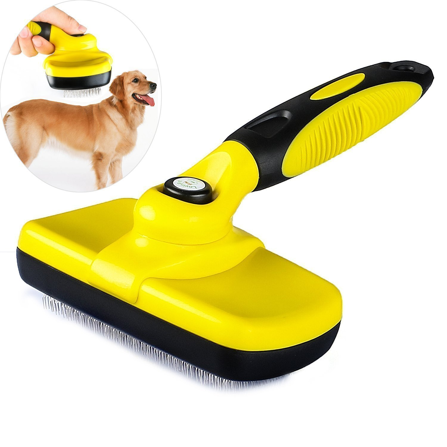 LovinPet Slicker Dog Brush Pet Cleaning Grooming Brush Supprime Tangled Knots, Mats, Undercoat & Loose Hair