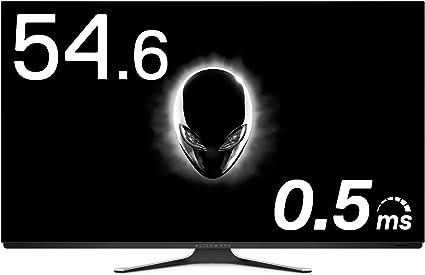 ALIENWARE 有機EL 4Kゲーミングモニター 54.6インチ AW5520QF(1年間無輝点交換保証/スピーカー リモコン付/0.5ms/120Hz/FreeSync/DP,HDMIx3)