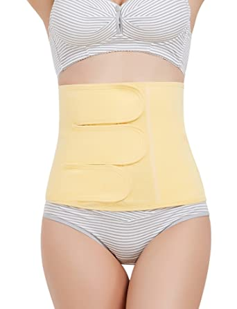 d4d09e9851da6 Perfashion Back Support Brace Trimmer Belt Band Postpartum Belly Wrap - C  Section Surgical Recovery -Warming Healing Pain Relief Abdominal Binder: ...