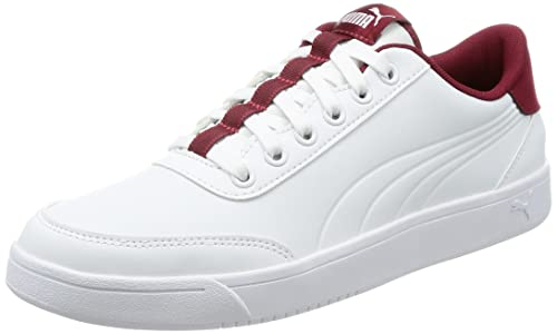 Puma Unisex Court Breaker L White-Tibetan Red Sneakers - 7 UK India ... 147784c12