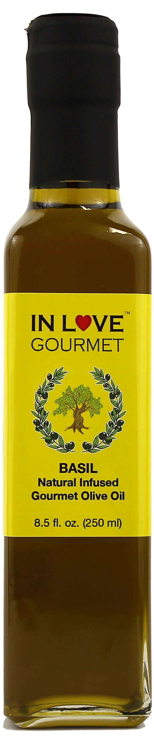 In Love Gourmet Basil Natural Flavor Infused Olive Oil 250ML/8.5oz Extra Virgin Basil Olive oil