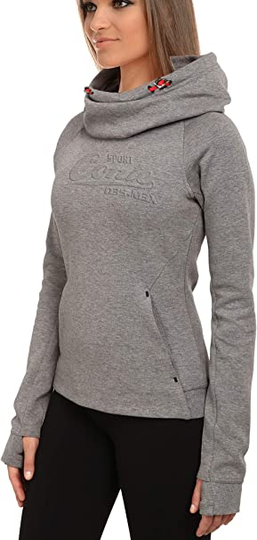 M.Conte Damen Sweat-Shirt Sweater Grau Blau Anthranzit S M L XL Sweat Korale