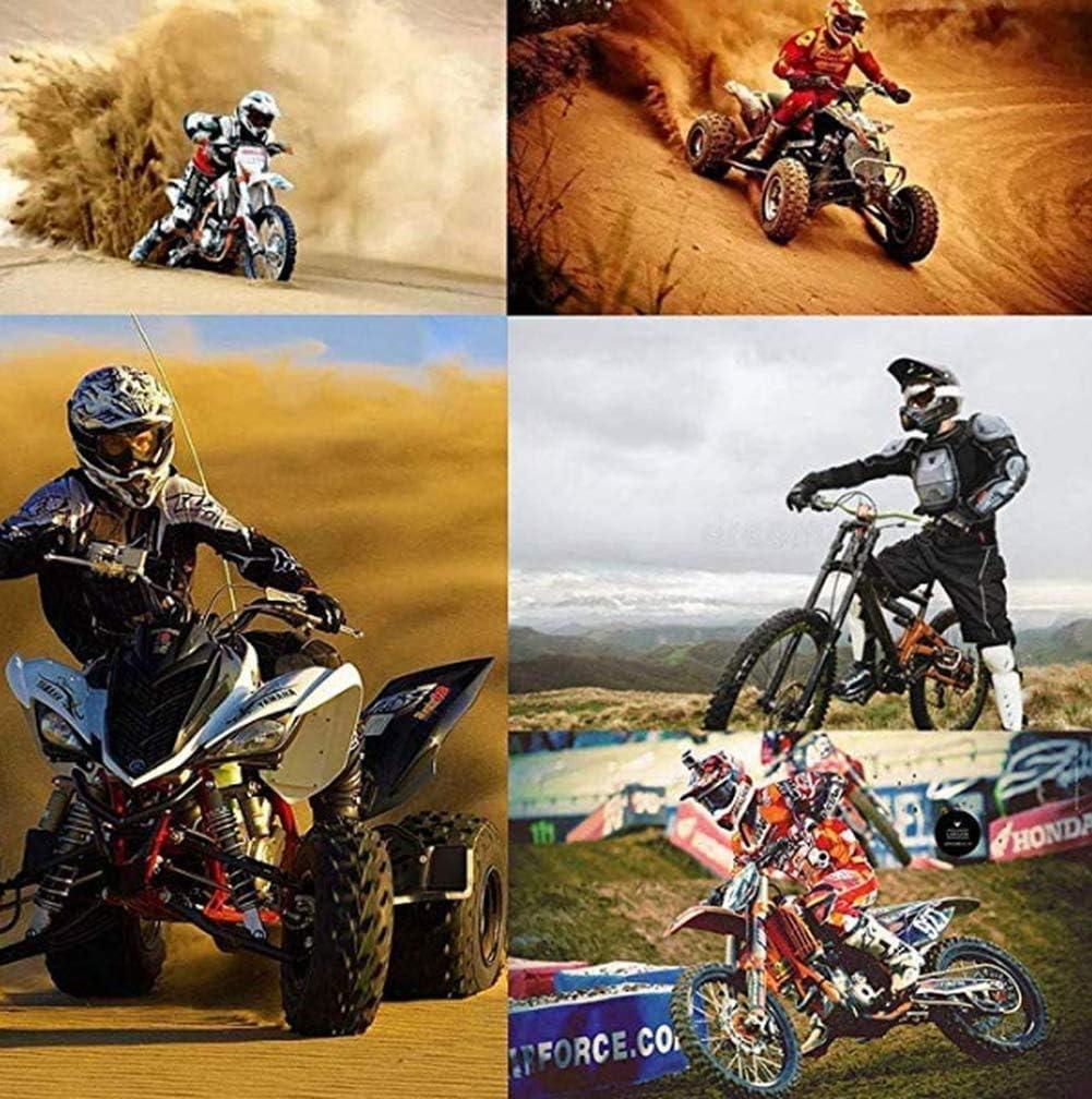 4 St/ück S Cross-Helm Mountainbike-Helm Schwarz und Wei/ß kreativer Helm Motorradhelm Handschuhe Brille Gel/ändemotorrad WYWZDQ Motorradhelm