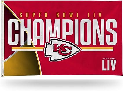 Rico Industries Nfl Liv Banner With Eyelets 90 X 150 Cm Printed On One Side Super Bowl Champion Liv Kansas City Chiefs Sport Freizeit