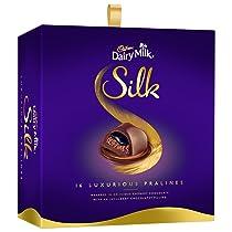 Cadbury Dairy Milk Silk Pralines Chocolate Gift Box, 160g