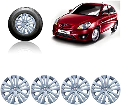 Autopearl - Premium Quality Car Black and Blue Wheel Cover Caps 14