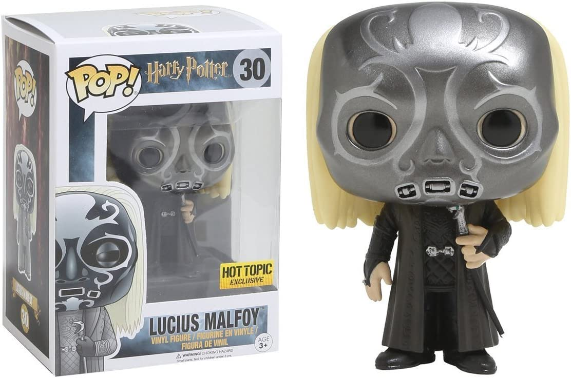 Vinyl FunKo Free Shipping! Harry Potter Lucius as Death Eater Pop
