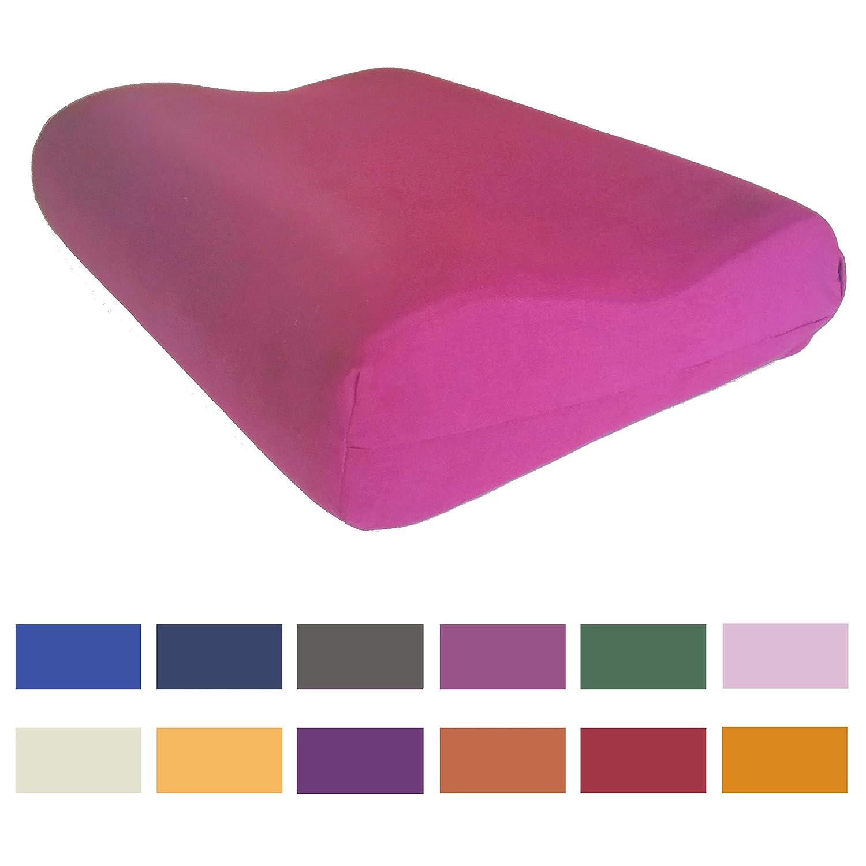 14 Farben pink Kneer Kissenbezug f/ür Tempur Original S//M//L//XL Nackenst/ützkissen 50x31 cm