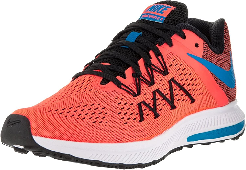 Nike Womens Zoom Winflo 3 Bright Mango/BL Glow/Blk/White Running Shoe 9.5 Women US, Bright Mango/Bl Glow/Blk/White, 41 B(M) EU/7 B(M) UK: Amazon.es: Zapatos y complementos