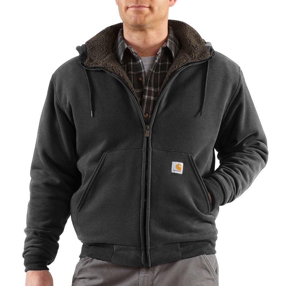 Carhartt Men's Collinston Brushed Fleece Sherpa Lined Sweatshirt,Black,Medium