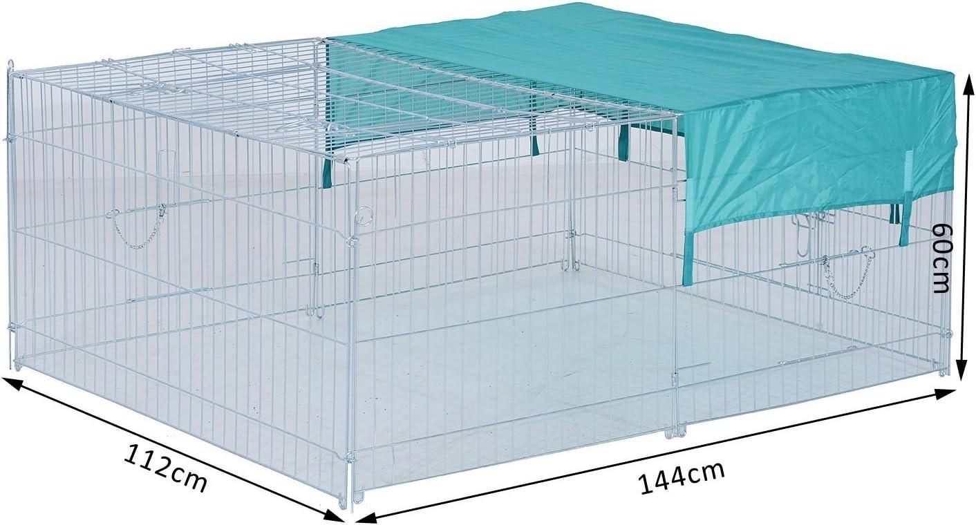 Jardines y Patios Modelo 1 PawHut Jaula Recinto para Animales Peque/ños y Mascotas Tipo Gallinas o Conejos para Exterior