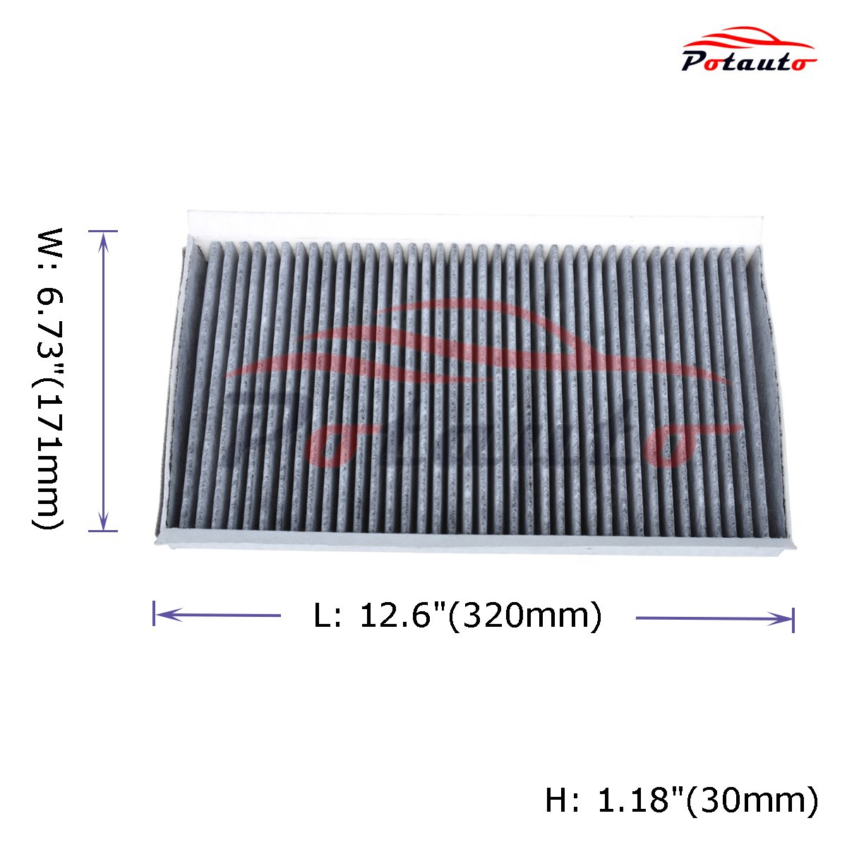 Replacement Activated Carbon Car Cabin Air Filter for BMW Upgraded with Active Carbon 500 Series CF10103 POTAUTO MAP 3008C 600 Series M Series/