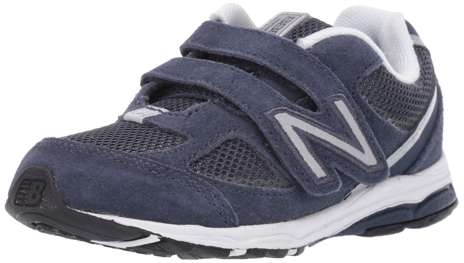 New Balance Boys' 888v2 Hook and Loop Running Shoe, Navy/Grey, 5.5 W US Toddler by New Balance