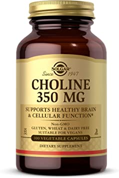 Solgar Colina 350 mg Cápsulas vegetales - Envase de 100