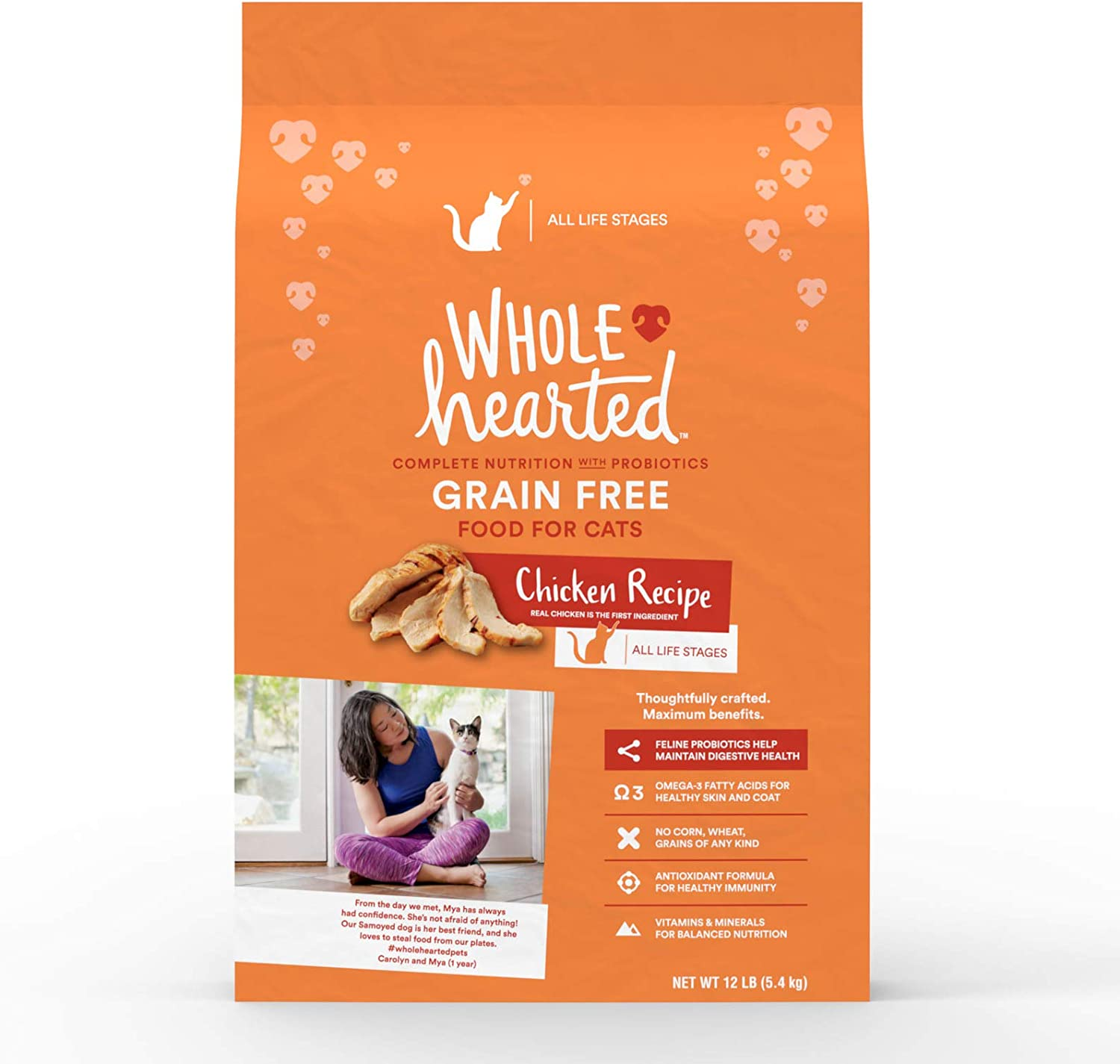 WholeHearted Grain Free Chicken Formula Dry Cat Food, 12 lbs.