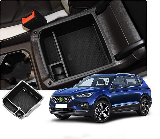 Ruiya Aufbewahrungsbox Aufbewahrungskiste Mittelkonsole Veranstalter Armlehne Box Angepasst Für 2019 Seat Tarraco 2016 2019 Tiguan Mk2 Auto