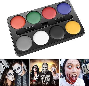 Unomor Halloween Schminke Makeup Kit 8 Farben Fur Hexen Zombie