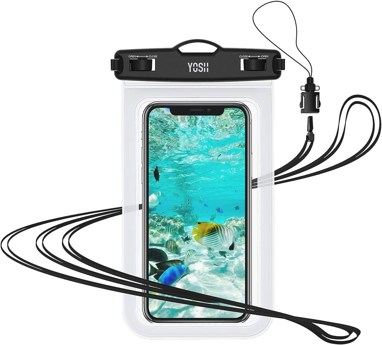 YOSH Funda Impermeable Móvil IPX8 Universal, Bolsa para Móvil Estanca a Prueba de Agua para iPhone 12 Pro MAX 11 XR X 8 7 Galaxy Note 20 S20 Xiaomi ...