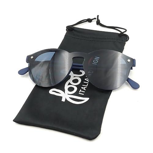Occhiali da sole blu Fool FIRENZE 02 in plastica gommata antiurto
