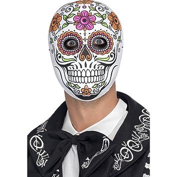 NET TOYS Máscara Mexicana de Muertos Careta La Catrina Antifaz Sugar Skull Mascarilla día de los