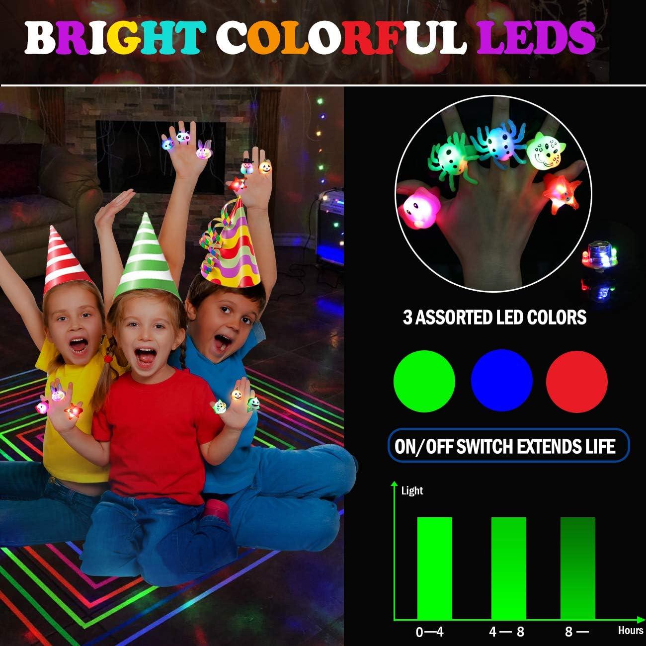 Amazon.com: Anillos luminosos para fiestas de cumpleaños ...