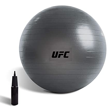 UFC Exercise Ball(55/65/75cm) - Balance Stability Ball - Anti Burst & Slip Yoga Ball Chair, Extra Thick Office Ball Chair with Quick Air Pump for ...