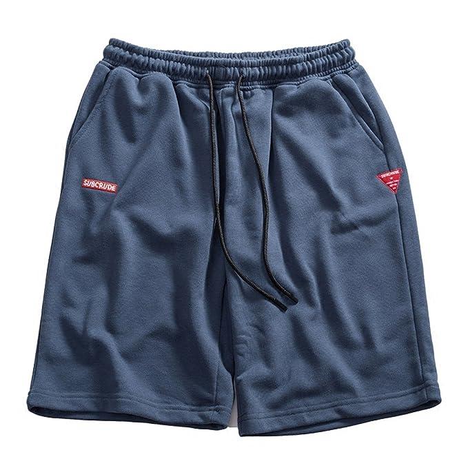 DFUCF Pantalones Deportivos Casuales Masculinos Pantalones Cortos De Punto Salvajes Salvajes Japoneses Marca Marea Pantalones De