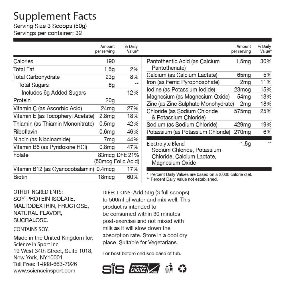 Science in Sport Rego Rapid Recovery Protein Shake Powder, Chocolate Flavor Post Workout Supplement Drink - 3.52 Lb by Science in Sport (Image #6)