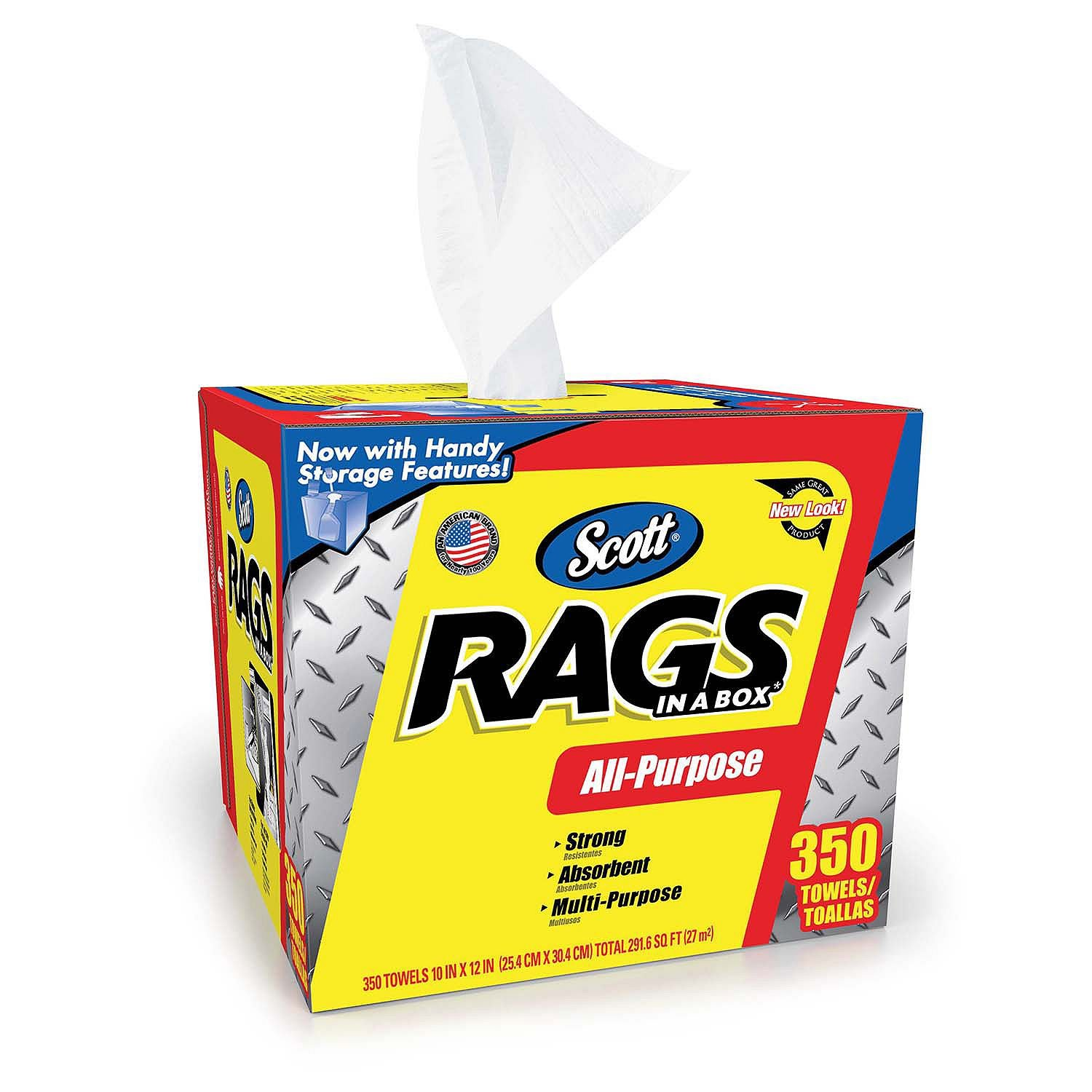 Amazon.com : Product of Scott Shop Rags In A Box (350 ct.) - Surface Care & Protection [Bulk Savings] : Office Products