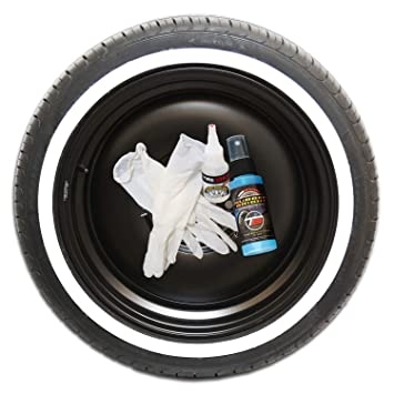 Tire Stickers White Wall Tire Kit - Do-It-Yourself Rubber White Wall  Application Kit - All 4 Tires - Custom Sizing/Thickness