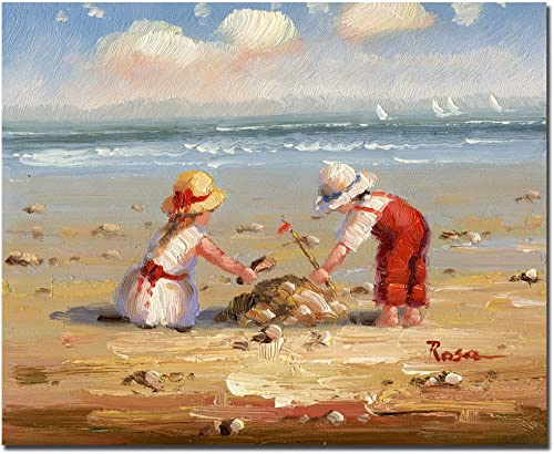 At the Beach IV by Master s Art, 26×32-Inch Canvas Wall Art