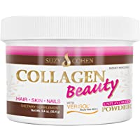 Collagen Beauty Powder By Suzy Cohen (3.3 oz) Anti Aging Hydrolyzed Protein Collagen...