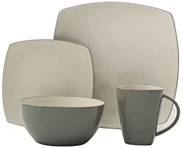 Gibson Soho Lounge 16-Piece Square Reactive Glaze Dinnerware Set Celadon  sc 1 st  Amazon.com & Amazon.com: Gibson Soho Lounge 16-Piece Square Reactive Glaze ...