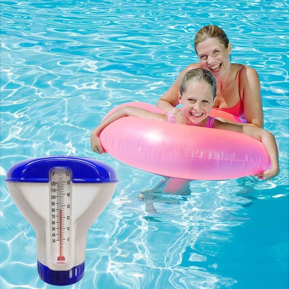 5 Zoll Chlordosierer Mit Thermometer Chemikalienschwimmer Pool Schwimmer Pool Chlor Schwimmer Thermometer Dosierung Chlordosierschwimmer F/ür Pool Pool Chlor Dosierschwimmer Chlorspender Pool